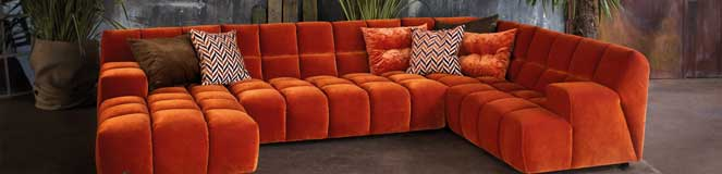 Bretz Sofa in Orange